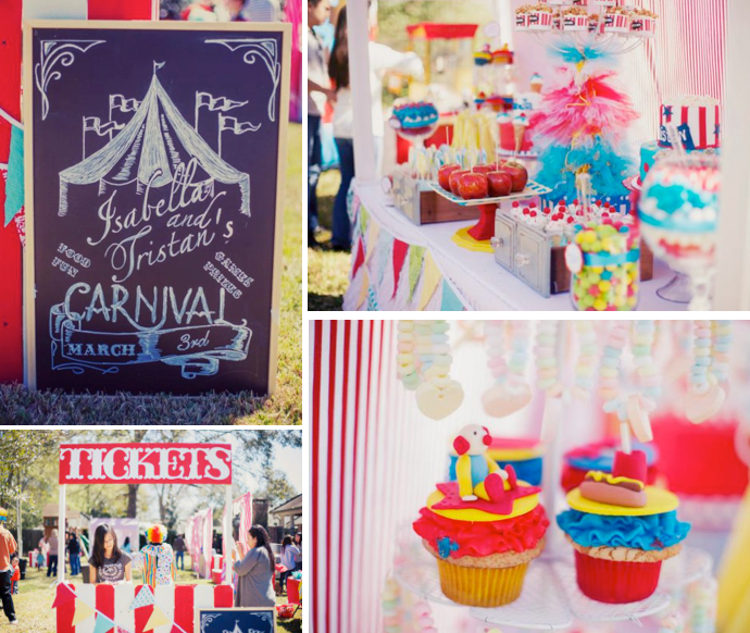 Circus Carnival Themed Birthday Party Via Karas Party