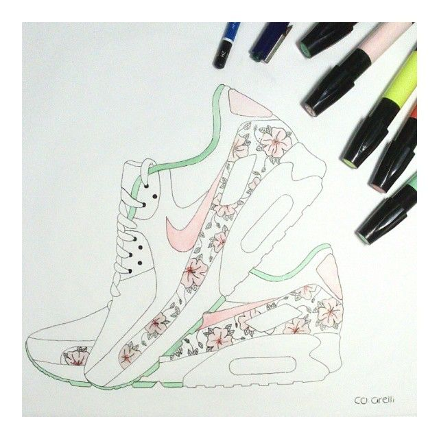 arelliArt Artwork Dessin Nike Sneakers Air Max©co 2019 En 0wOknP8