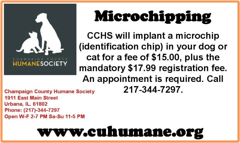 MICROCHIPPING FOR PET OWNERS IN CHAMPAIGN COUNTY
