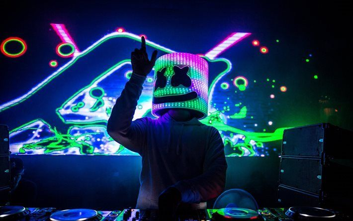 Telecharger Fonds D Ecran Marshmello De Nuit Club Dj La Lumiere Des Neons De La House Progressive Concert Besthqwallpapers Com Progressive House Dj Artiesten
