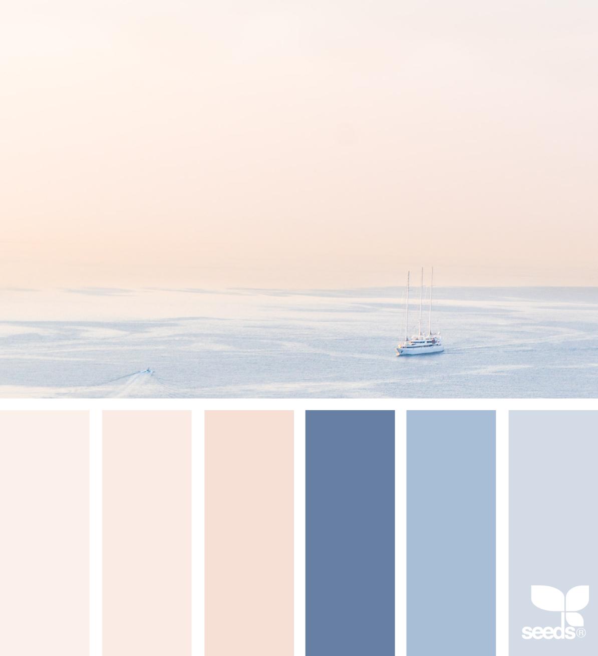 Mental Vacation Calm Color Palette Design Seeds Mental Vacation