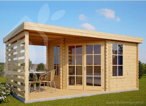 Abri de jardin AISNE PLUS 9m²(3x3) 28mm (Chalet) 1799€ | Cabane ...