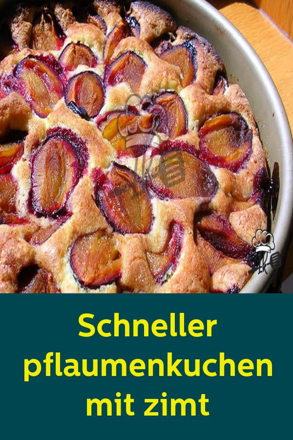 Schneller pflaumenkuchen mit zimt #leckerekuchen