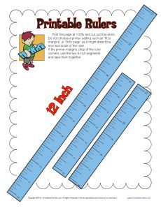 Free, printable rulers to help with math and measurement problems ...