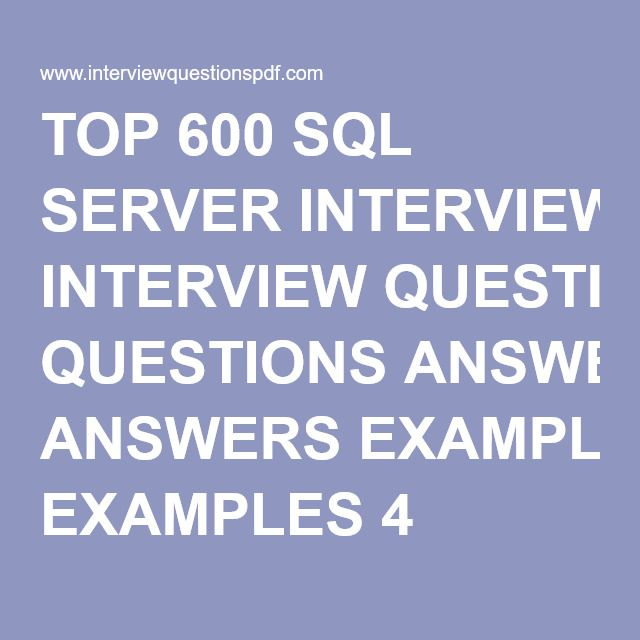 Sql Server Interview Questions And Answers For Experienced Pdf