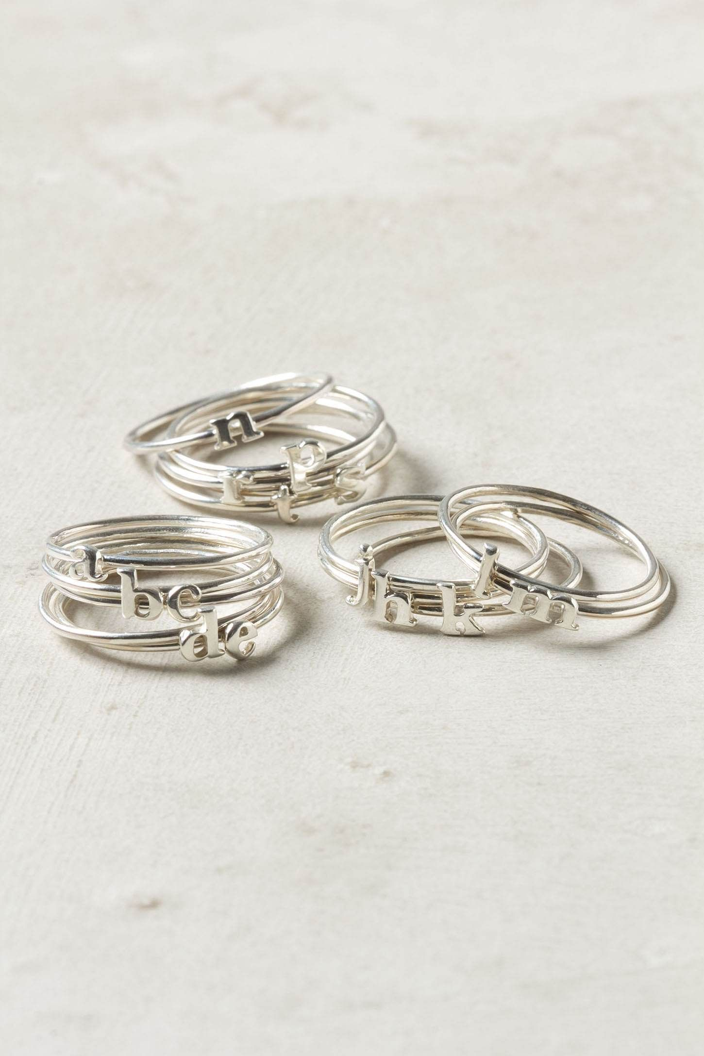 Wee Initial Ring - Anthropologie.com