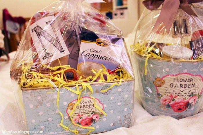 Ghada S Blog هديه سلة كوفي Diy Basket Coffe Gift Diy Basket Diy Basket