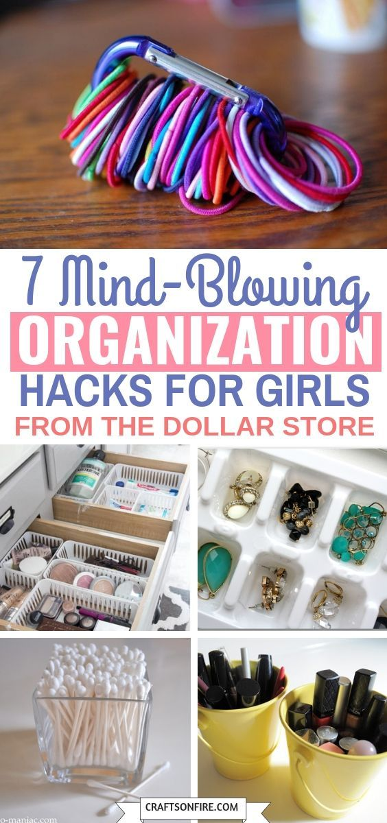 7 Dollar Store Organisieren von Ideen, die jedes Mädchen lieben würde - Craftsonfire