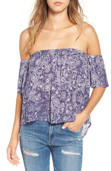 Free shipping and returns on Billabong 'Best Way' Paisley Off the Shoulder Top at Nordstrom.com. A two-tone paisley print lends a refined, beachy vibe to this on-trend, shoulder-baring top cut with a breezy high/low hem.