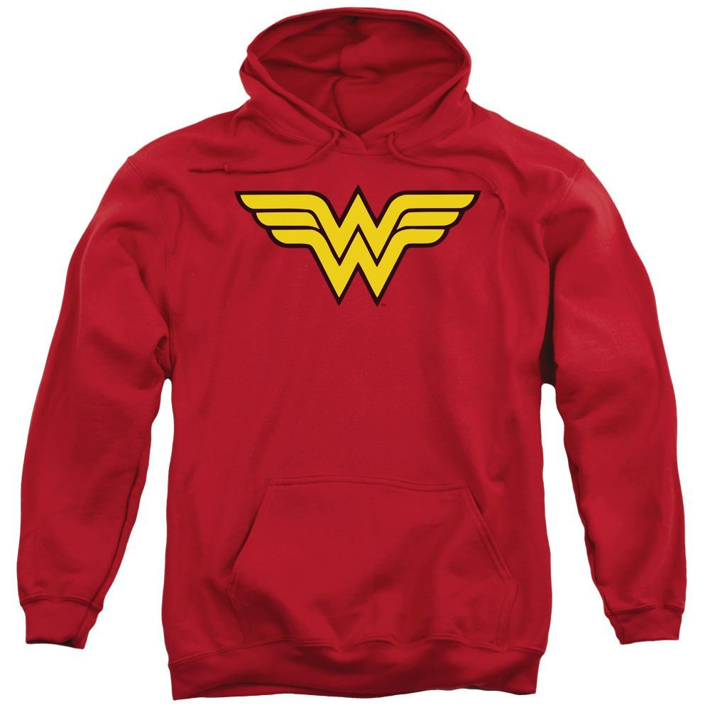 Wonder Woman Logo Red Hooded Sweatshirt