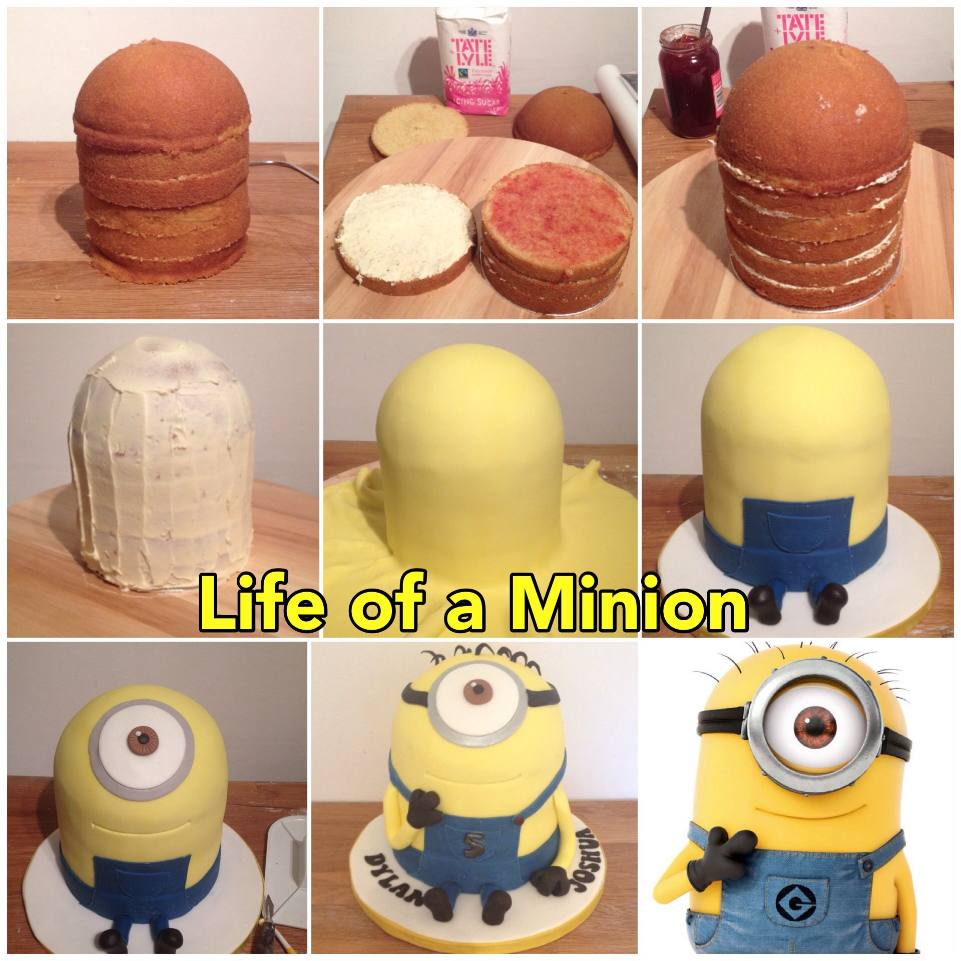 How To Make A Minion Cake By Www Candyscupcakes Co Uk Cute