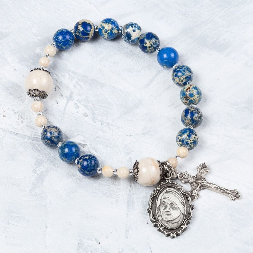 Mother Teresa Rosary Bracelet #rosaryjewelry