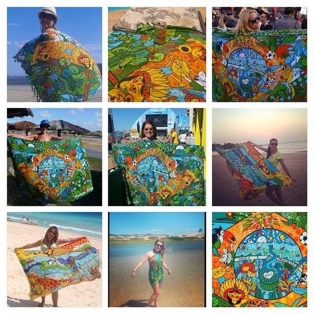 afae1cb2a Cangas de praia Licenciadas pela Kelapa, Andreza Katsani - Canga Bandeira  do Brasil, Canga