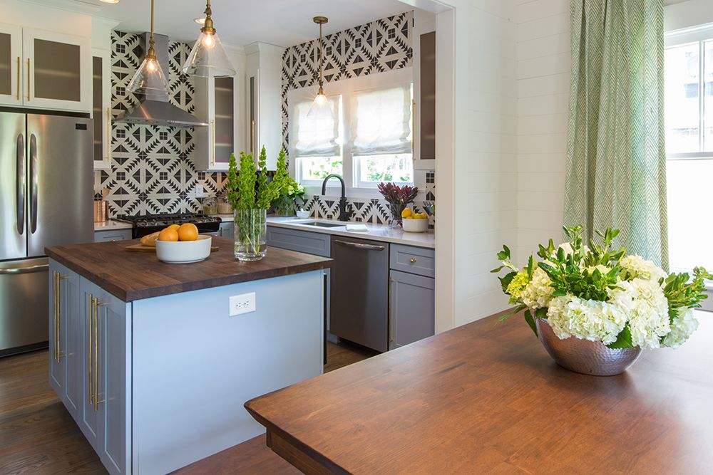 See What Happens When A Boho Chick Meets Property Brothers Chic Amazing Open Concept Kitchen Design Property