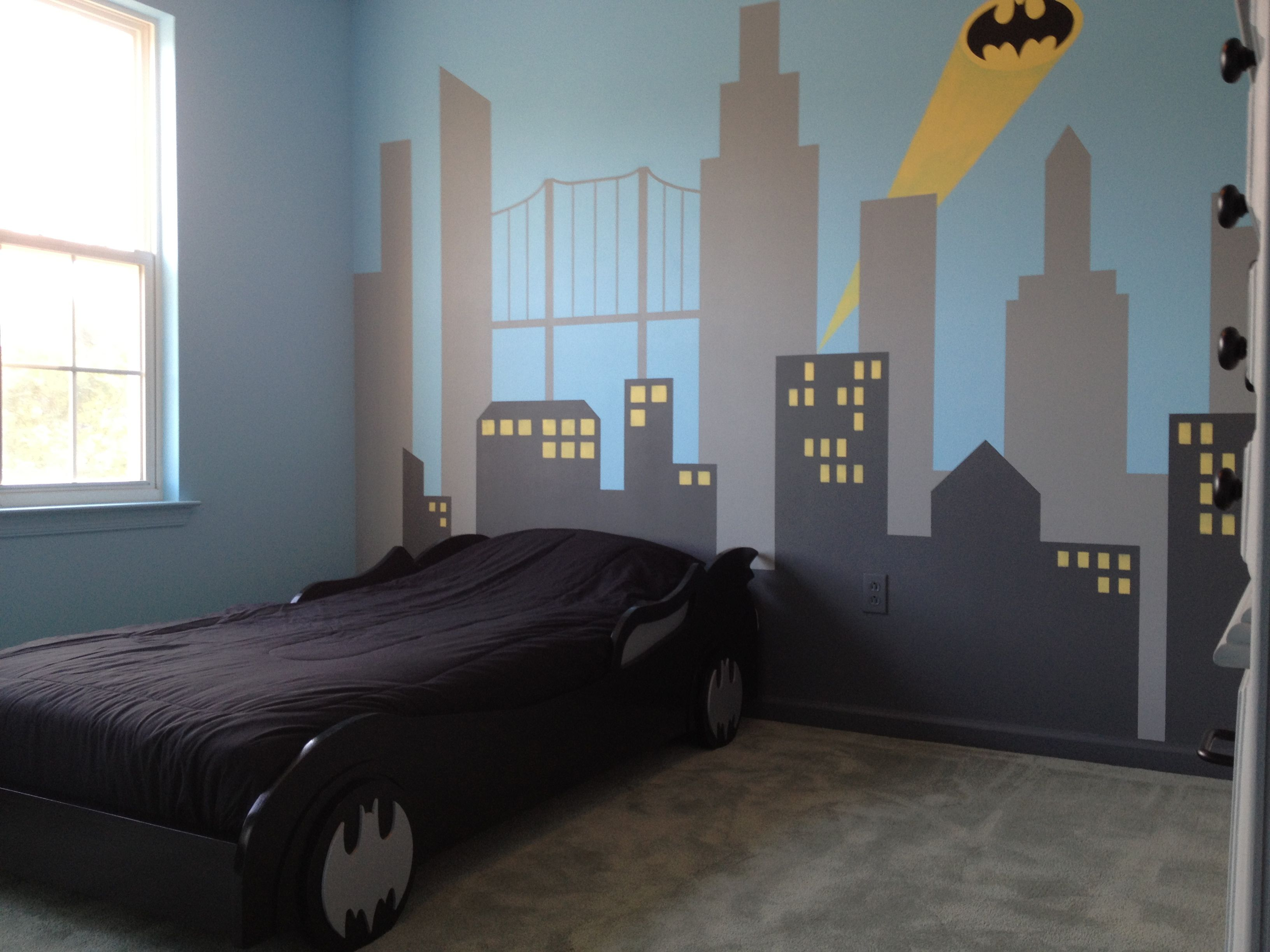 Superman Room Ideas My Son 39s New Batman Bedroom He Loves It House Aidan