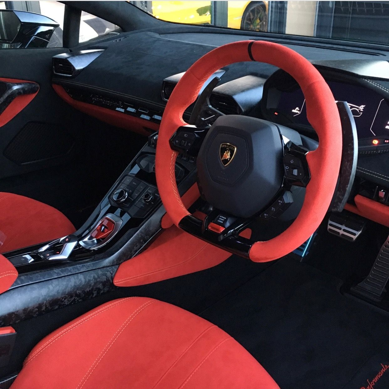 Interior Of The Lamborghini Huracan Performante Painted In Ad