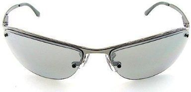 312a1d7dc3 Polarised Sunglasses · New Ray Ban RB3179 004 82 Top Bar Gunmetal Gray  Silver Mirror Lens 63mm