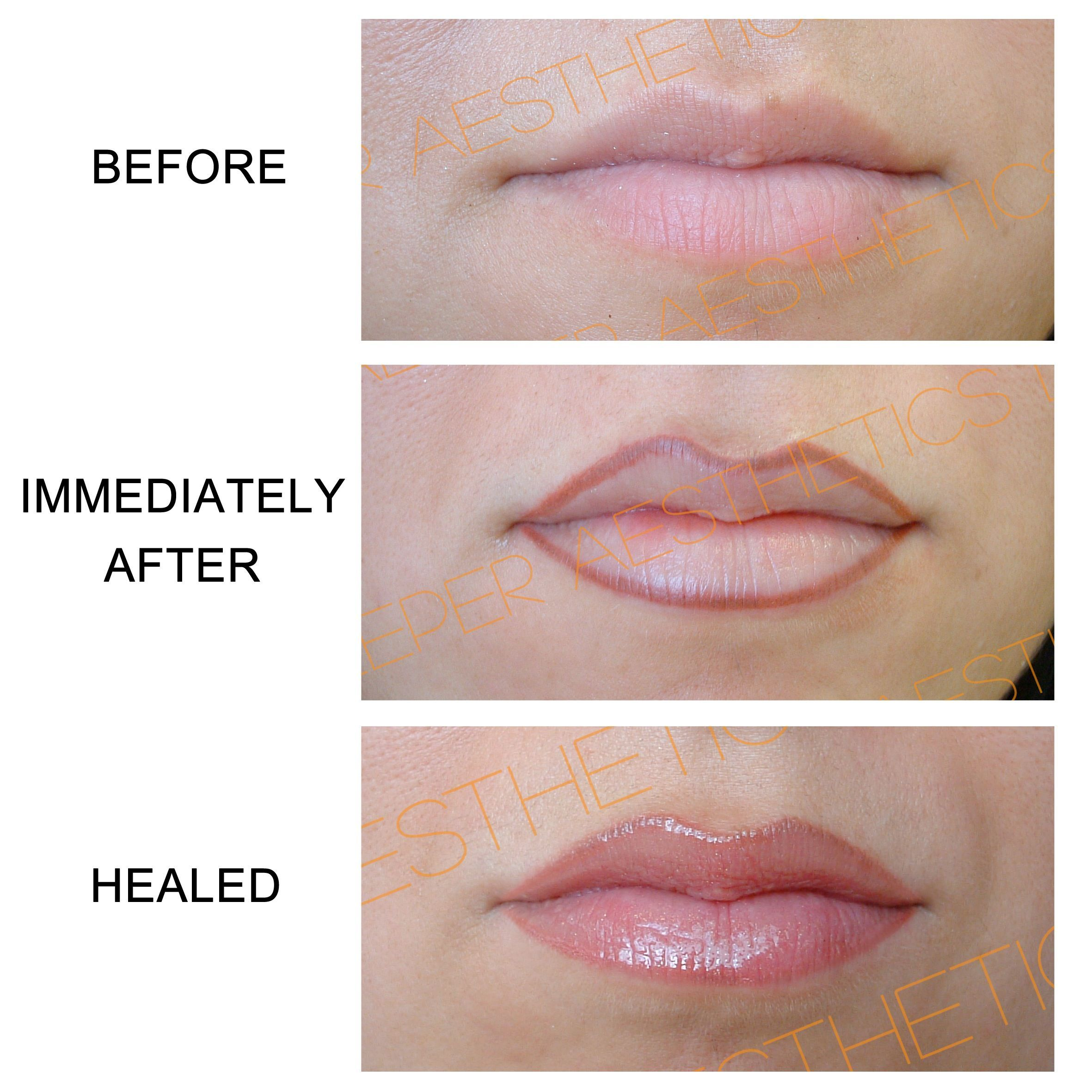 Best of semi permanent makeup lip liner and description in