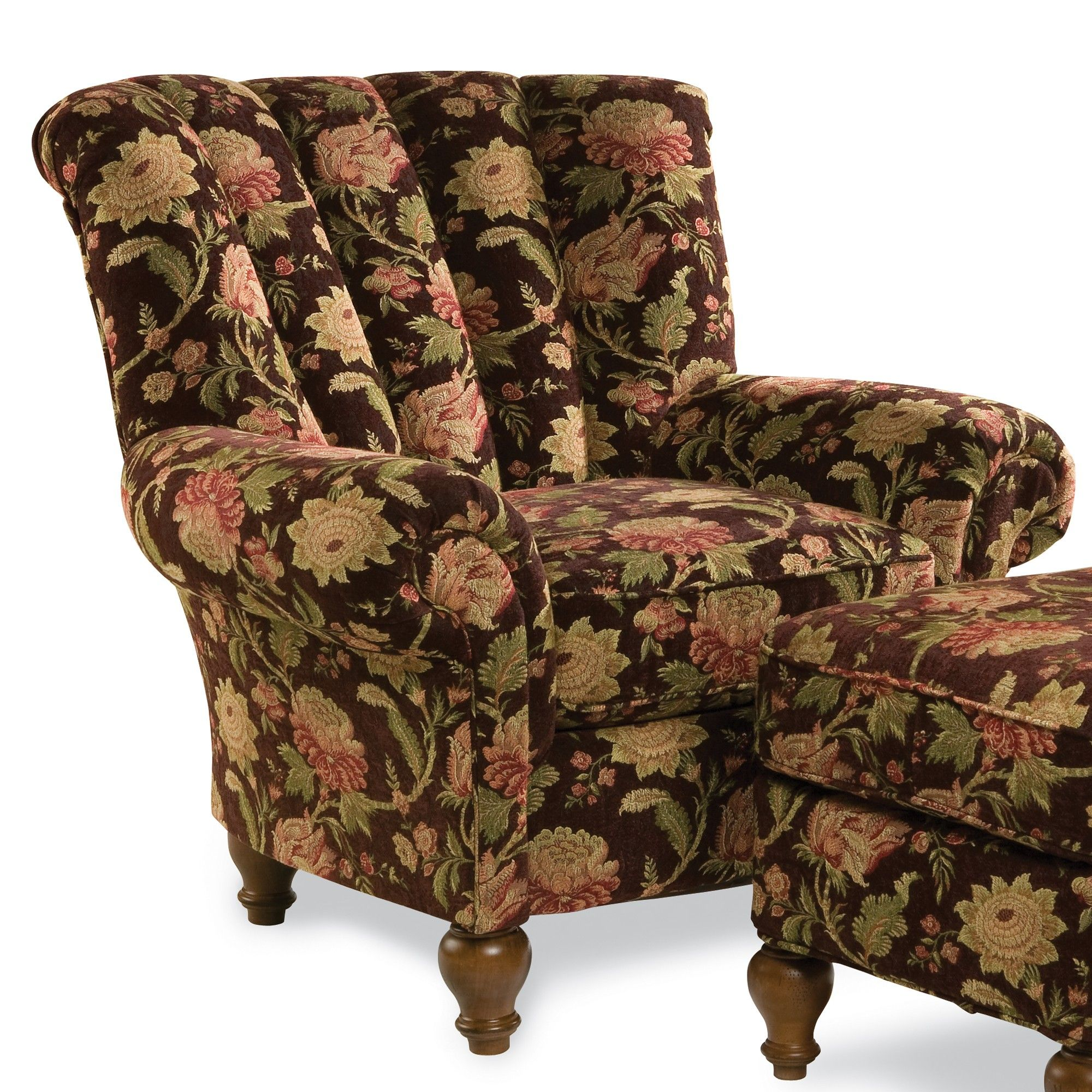 Stafford Chair Ottoman Sturbridge Yankee Workshop Chair And Ottoman Patterned Chair Furniture Upholstery #pattern #chairs #for #living #room