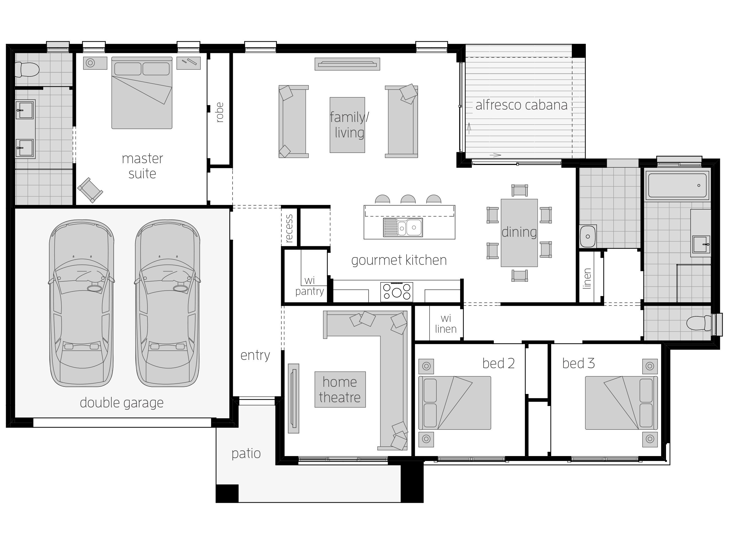 Eaton Floor Plan By Mcdonald Jones The Eaton Takes Advantage Of Wide Corner Blocks And Complements It Wi House Plans Australia Duplex Floor Plans Floor Plans