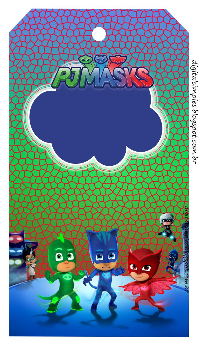 Kit Digital Free Aniversario PJ Masks