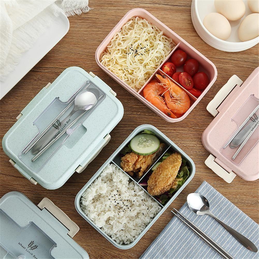 Microwave Lunchbox Women Wheat Straw Kitchen Dinnerware Picnic
