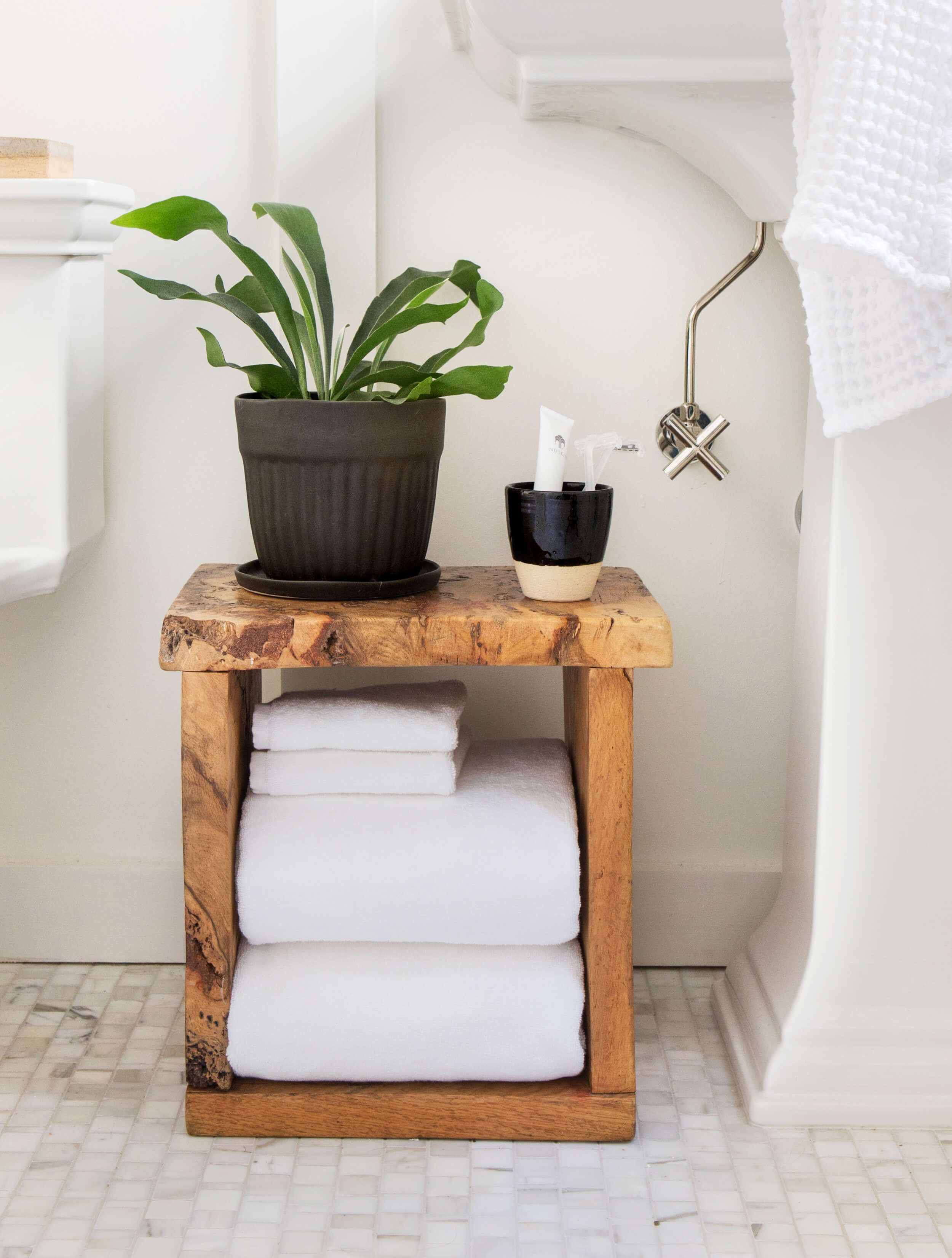 Scott\'s Bathroom Makeover with Parachute | benches and stools ...