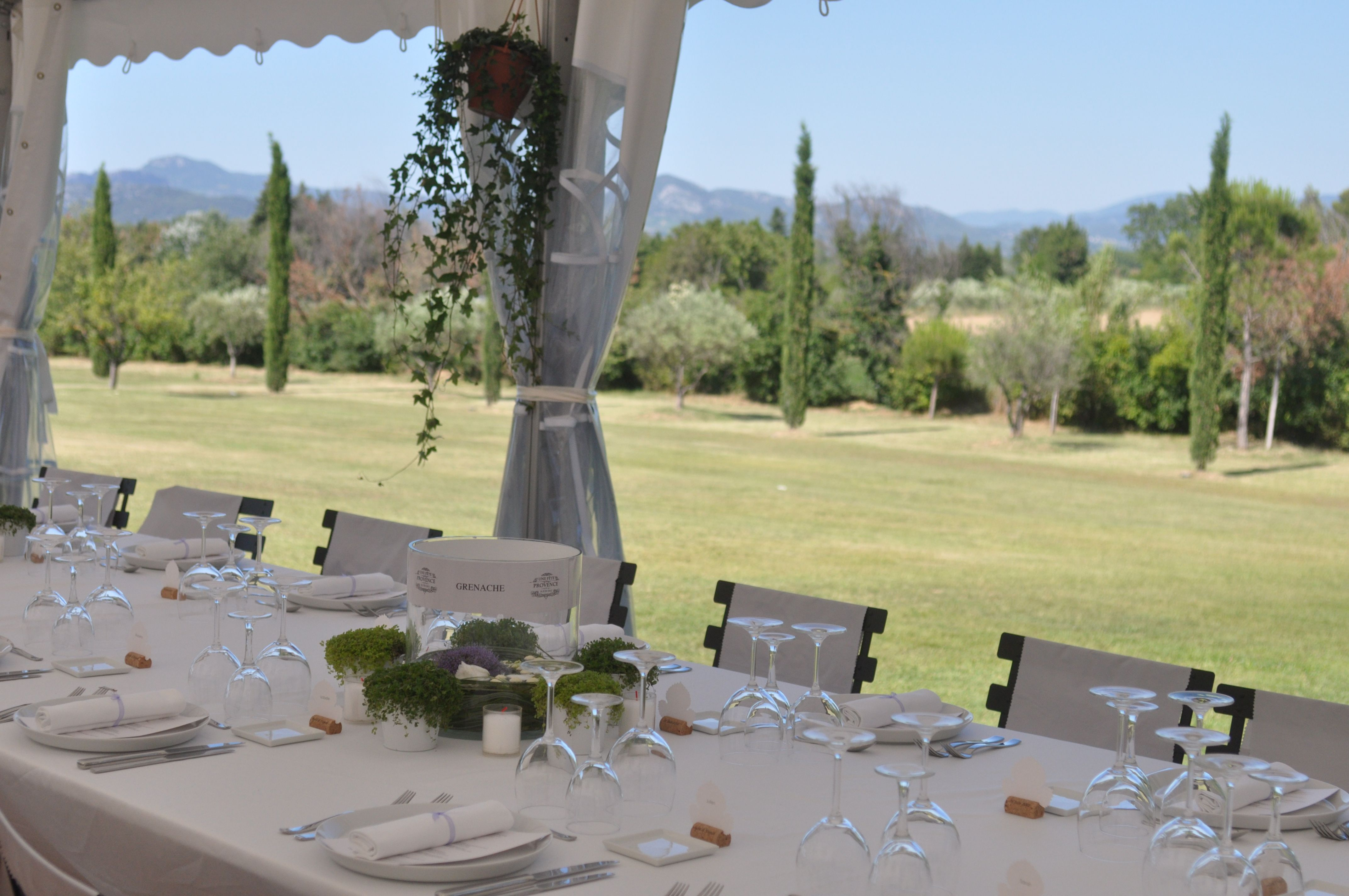 Indoor & Outdoor Marquee Set Up - Provence - South of France - Destinations Wedding