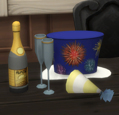 Sims 4 CC's - The Best: New Year Party Supplies by biguglyhag