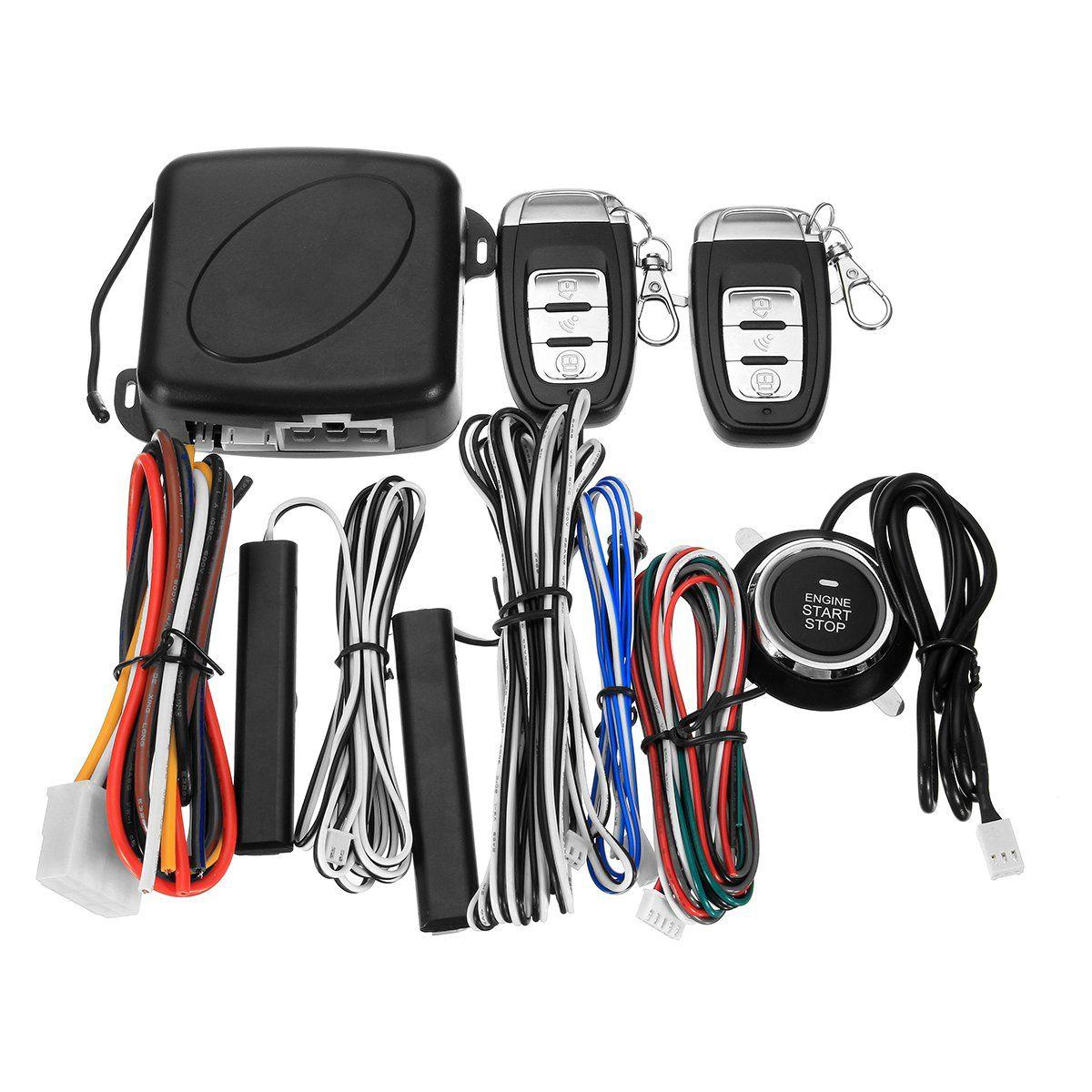 Smart Car Q6c Alarm System Push Button Amp Remote Start