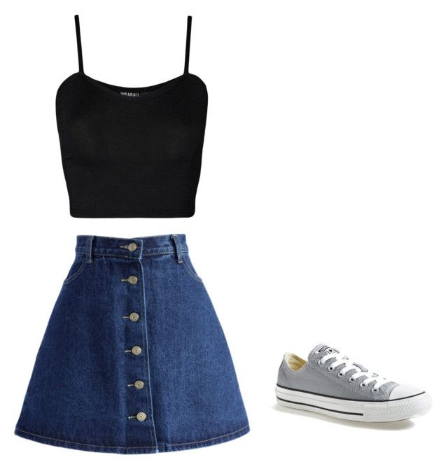 """Untitled #18"" by alanna-perez-linares on Polyvore featuring WearAll, Chicwish and Converse"