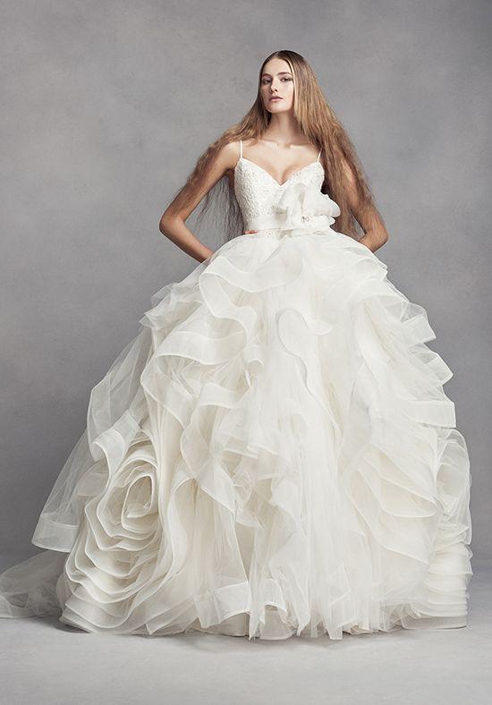 05fc3fbdc27c Organza Ball Gown Wedding Dress | Style VW351371 by Vera Wang at David's  Bridal | http