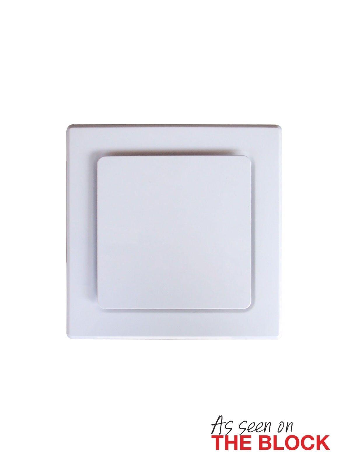 Lucci 250mm Designer Square Exhaust Fan in White | Bathroom ...