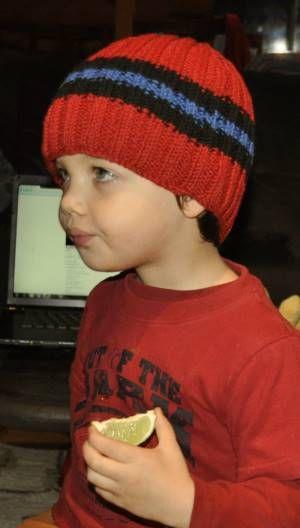 Cotton Twirl Everyday Stripes Hat- Crystal Palace Yarns - free knit hat pattern