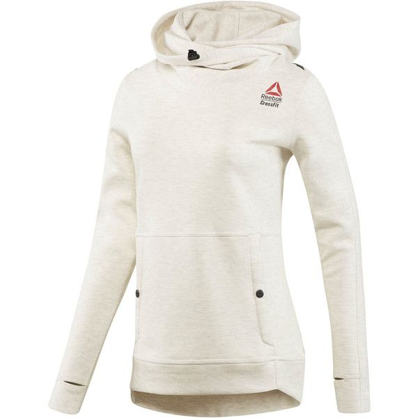 Reebok CrossFit Games Hoodie ($95) ❤ liked on Polyvore featuring activewear, activewear tops, apparel, reebok activewear, reebok sportswear, slimming slip, white slip and reebok