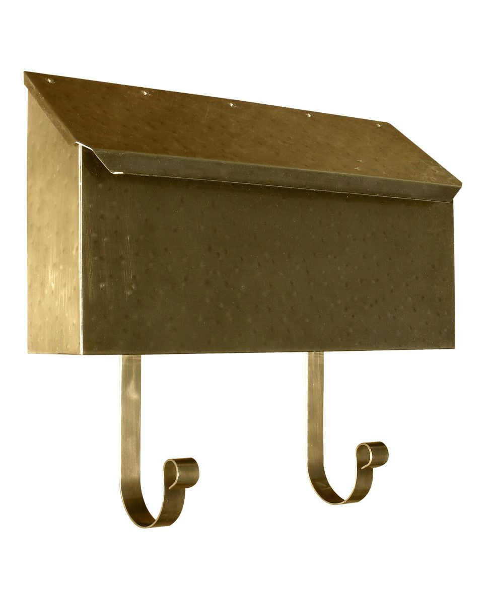 Provincial Collection Brass Mailboxes Horizontal With Newspaper Hooks Wall Mount Mailbox How To Clean Brass Old Mailbox