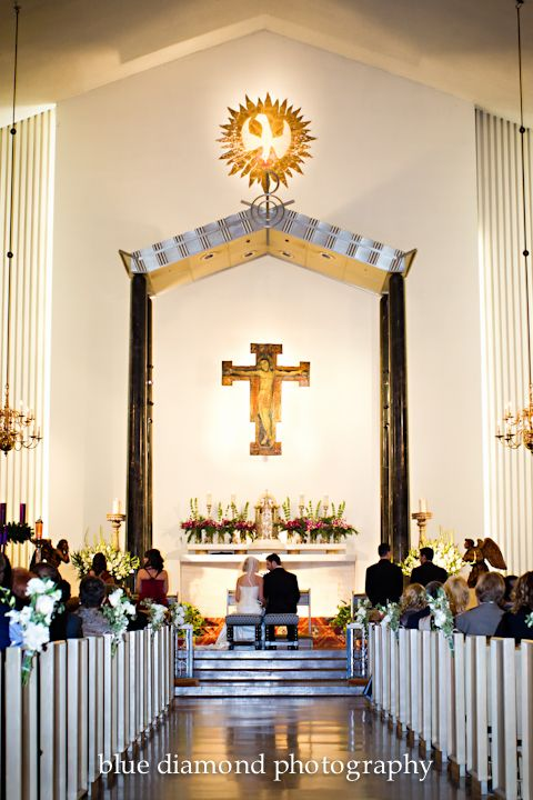 St Victor Catholic Church West Hollywood Church Wedding Table Decorations Winter Wedding
