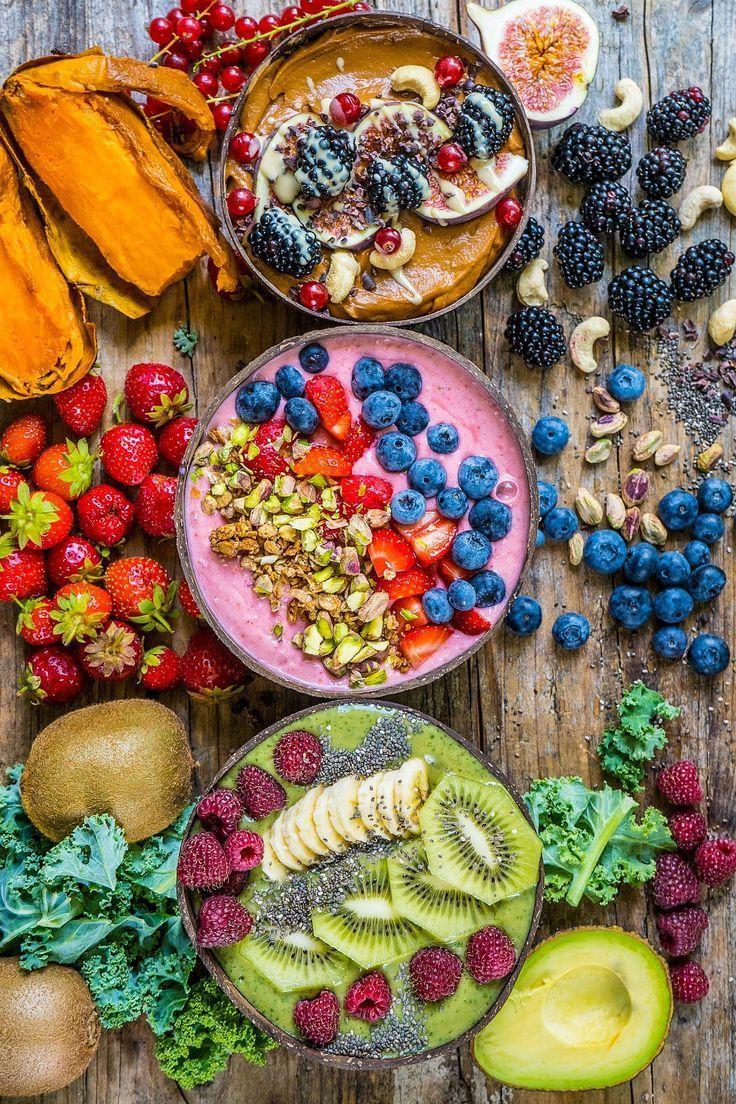 Smoothie-Schalen – 3 gesunde Rezepte – Frau Flury – essen und leben Sie gesund   – Gesund und fit im Büro