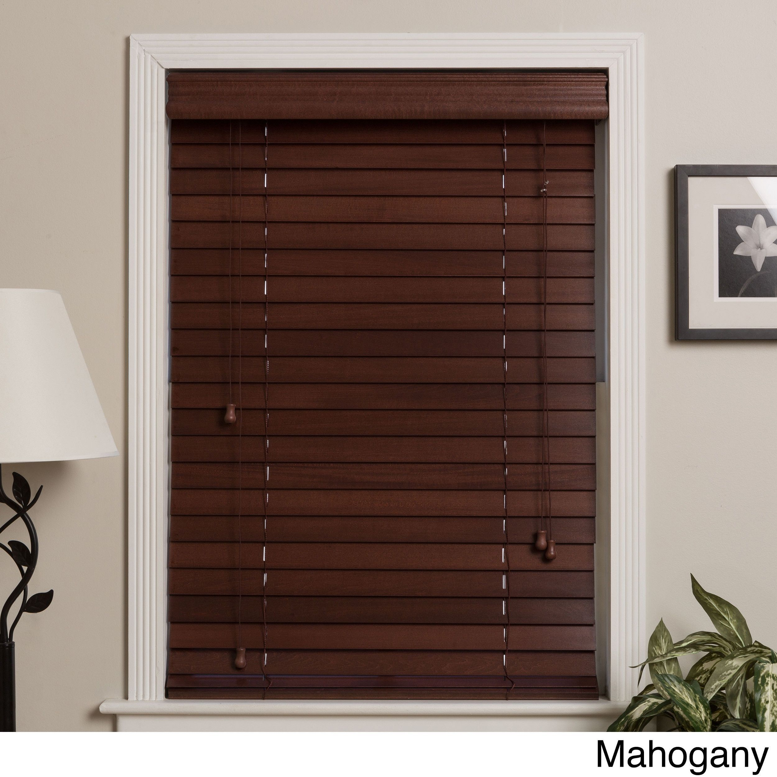 Safe-er-Grip Customized 35-inch Real Wood Window Blinds