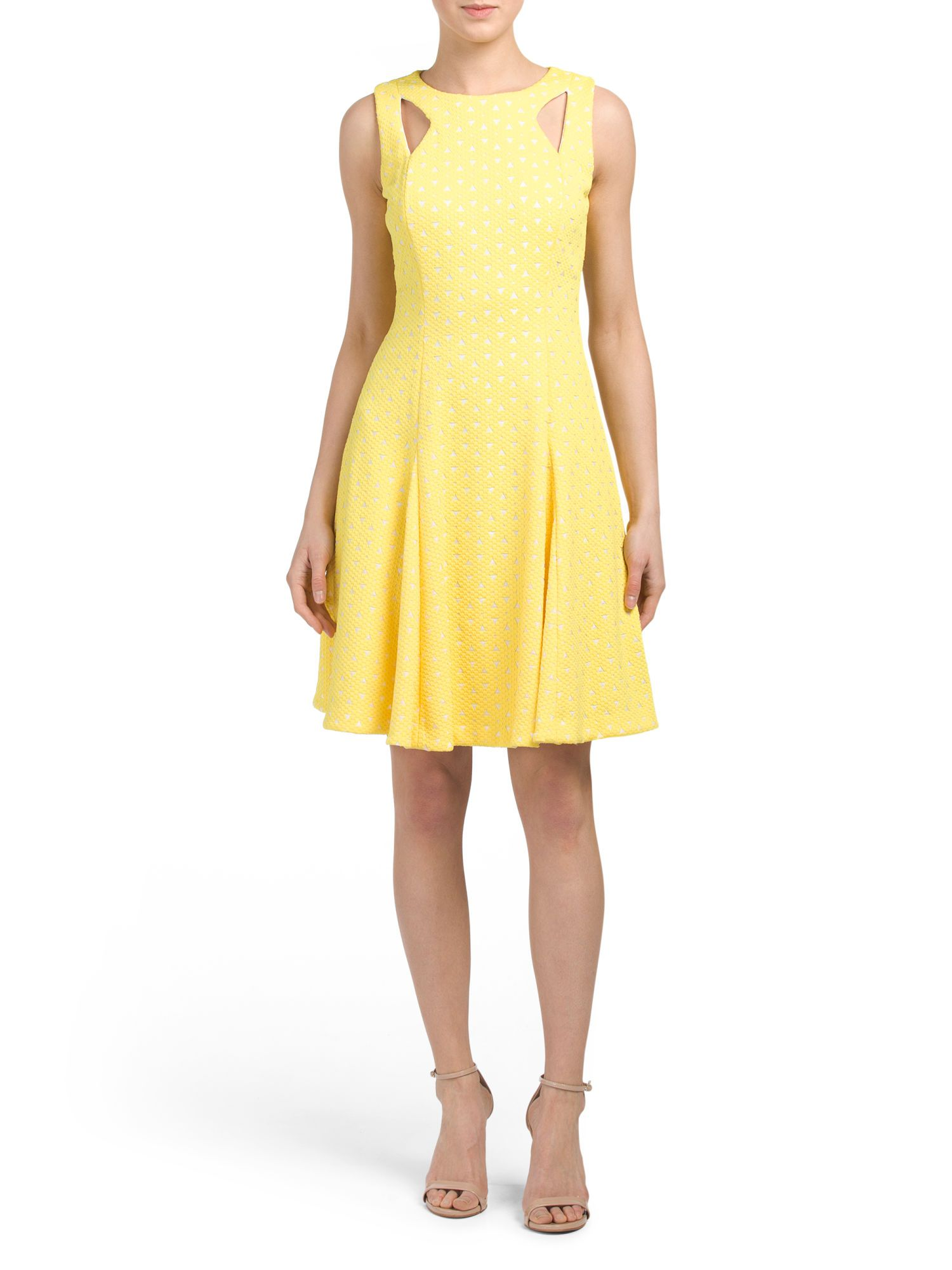 TAHARI BY ASL Cut Out Fit And Flare Dress $39.99