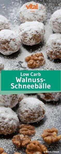 Rezept Low Carb Walnuss Schneebälle #lowcarbdesserts