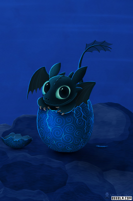 Toothless As A Baby Night Fury Just Cracked From His Egg SO CUTE