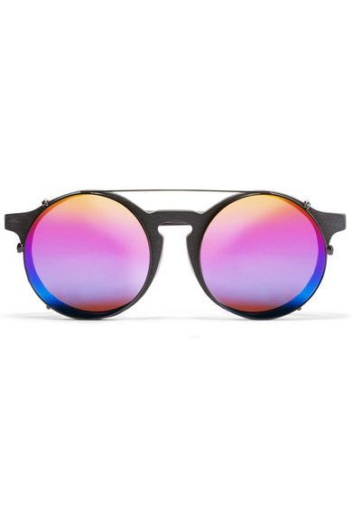 Sunday Somewhere - Matahari convertible round-frame matte-acetate mirrored sunglasses