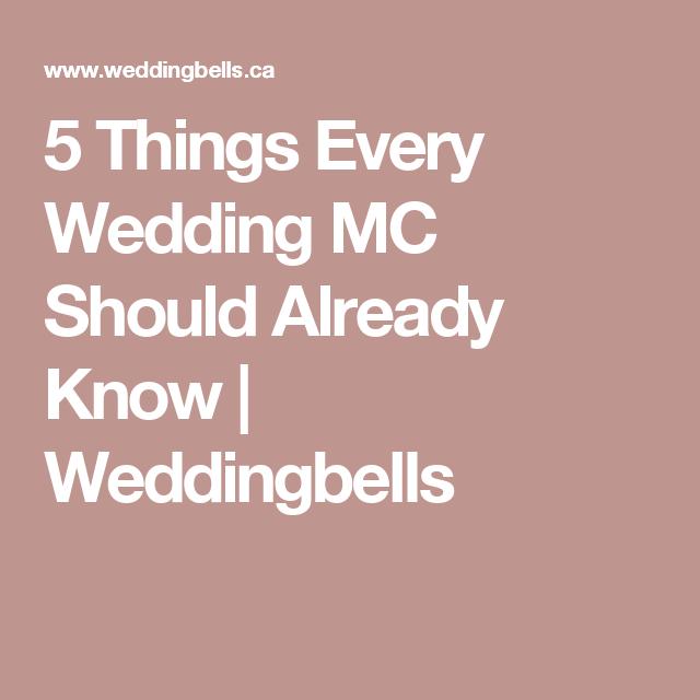5 Things Every Wedding Mc Should Already Know Weddingbells