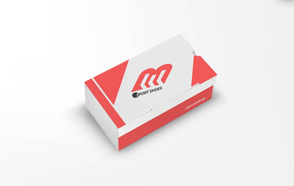Download Free Shoes Packaging Mockup Free Shoe Box Mockup In Five Separate Psd Files Each File Can Be Modified And Customized To Y Packaging Mockup Box Mockup Mockup