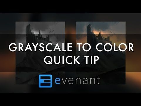 Grayscale To Color - Digital Painting Tutorial - Concept Art