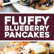 Fluffiest Blueberry Crancakes Recipe - Une pincée de yum -