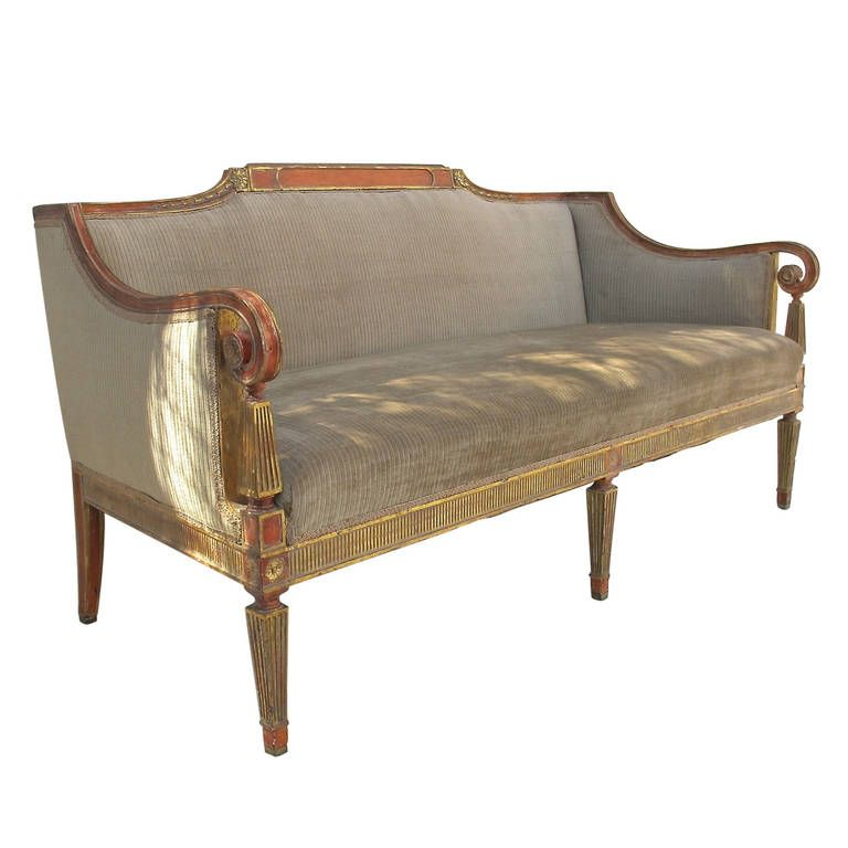 Neoclassical Style Sofa | From a unique collection of antique and modern sofas at https://www.1stdibs.com/furniture/seating/sofas/