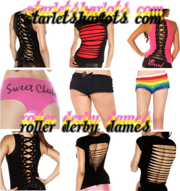 """Roller Derby Clothing"" by starlets-harlots on Polyvore"
