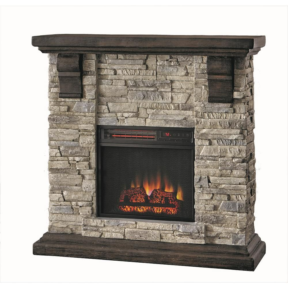 Stone Electric Fireplace Tv Stand Home Decorators Collection Highland 40 In Media Console Electric